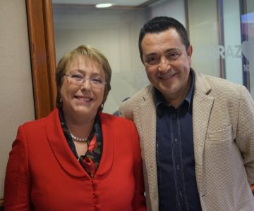 Michelle Bachelet en Radio Corazón