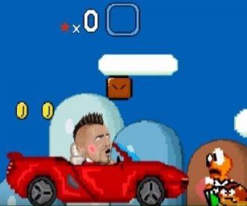 Arrturo Vidal chocó hasta en el Super Mario con el ferrari