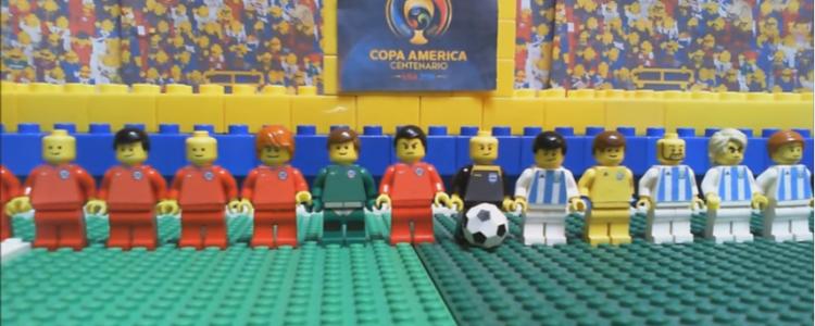 Cacha! Recrearon la final de la Copa América Centenario con Lego