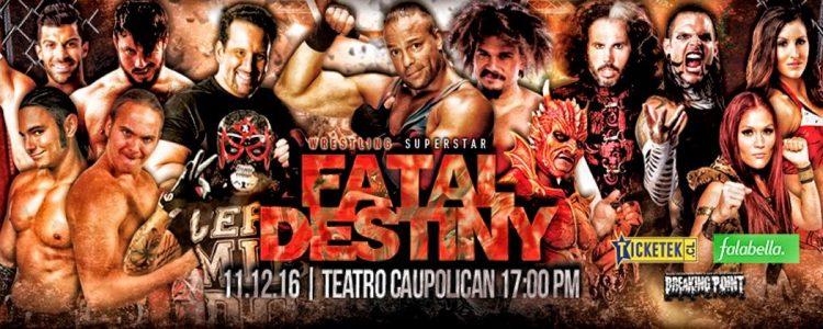 Participa por entradas al show de Wrestling Superstar en Chile: Fatal Destiny
