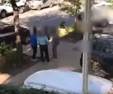 Pelea en el barrio alto terminó a patadas