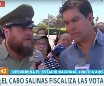 """""""Guatón"""" Salinas se llevó reto por broma en Estadio Nacional"""