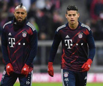 La broma de Arturo Vidal y James Rodríguez a Ribéry que sacó carcajadas en redes