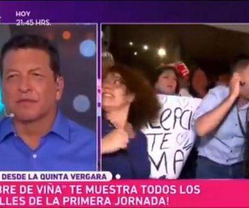"""El divertido chascarro protagonizado por notero de """"Fiebre de Viña"""""""