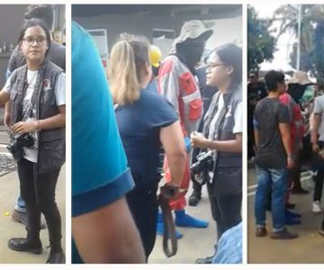 Mamá choriza se vuelve viral por ir a sacar de un ala a su hijo de una protesta