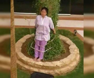 Asesora del hogar fue amarrada a un árbol por descuidar los muebles de la casa