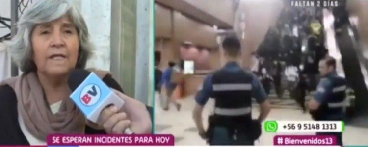 «Esto no es vandalismo» abuelita se llenó de aplausos al defender la evasión del Metro