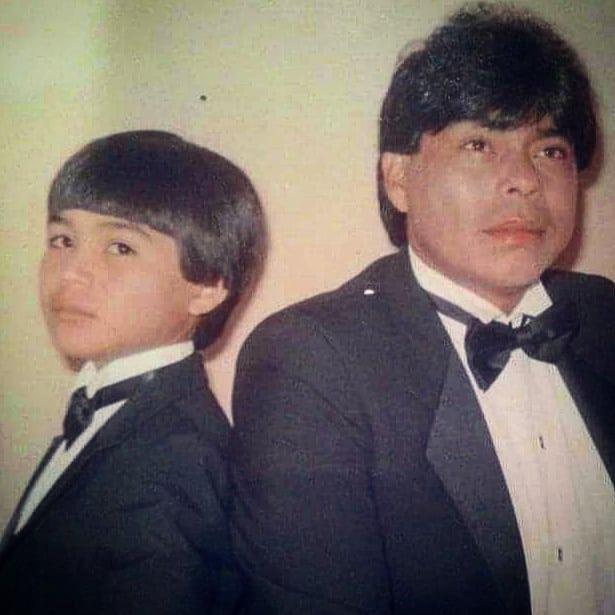 Américo con su papá. (fuente: Instagram - @americooficial)