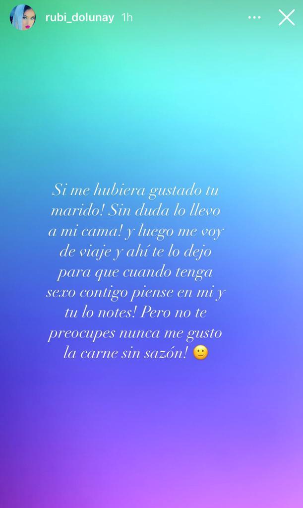 Mensaje De Rubí En Su Instagram. (Fuente: La Cuarta)