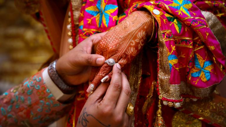 Novia India Referencia. (Fuente Pexels)