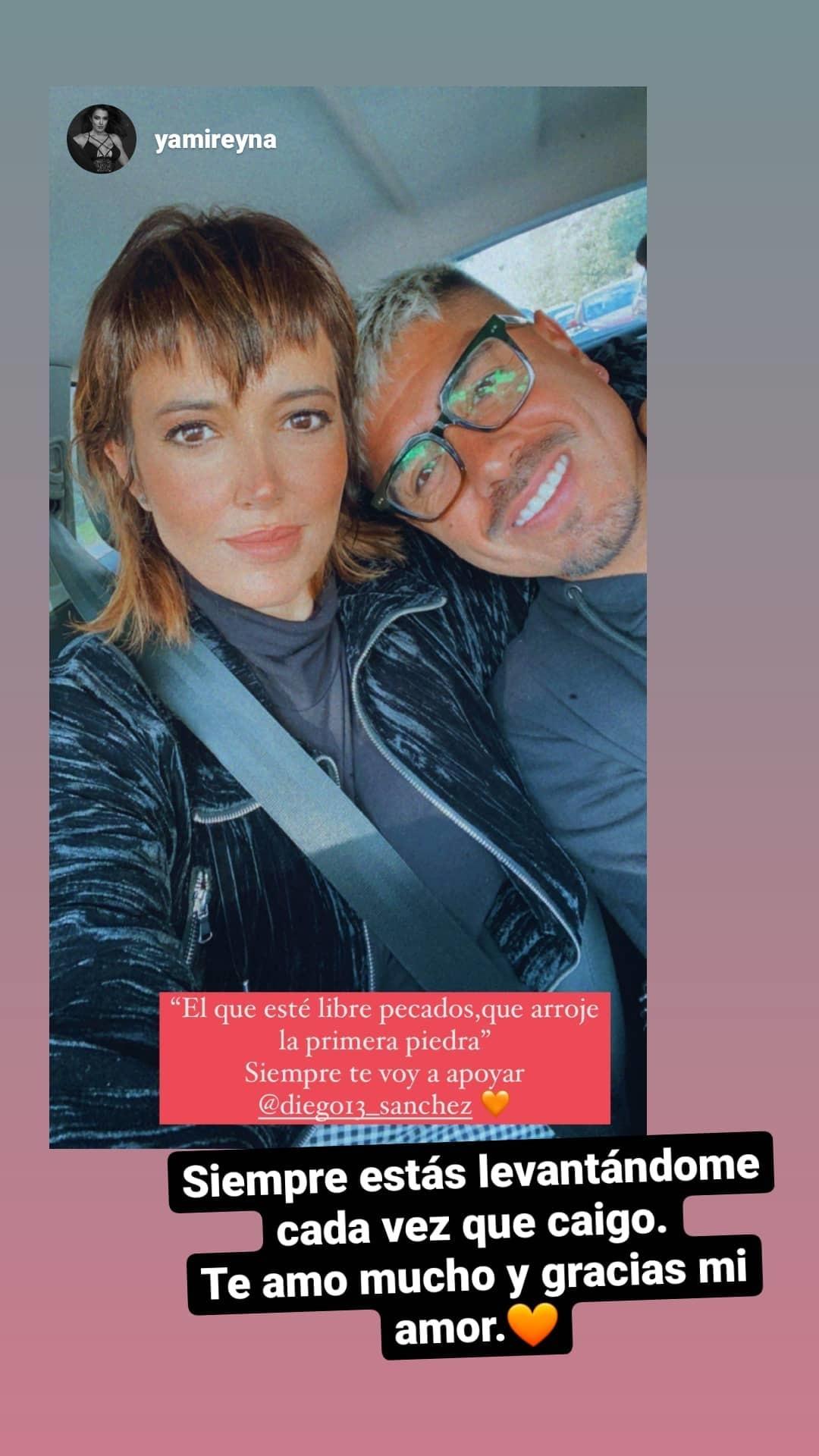 Yamila Reyna apoyo a Diego Sánchez